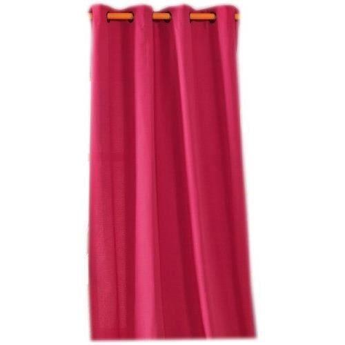 Linder 0205 62 375fr rideau double natte rose oeillets 135 x 240 cm achat vente rideau for Double rideau rose