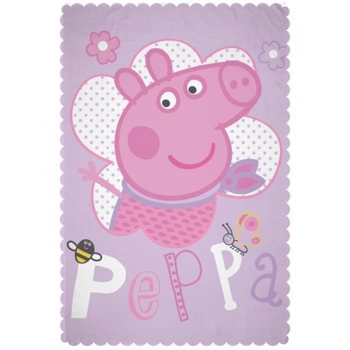 Couverture en laine polaire heureux peppa pig achat for Couverture jetable en laine polaire ikea