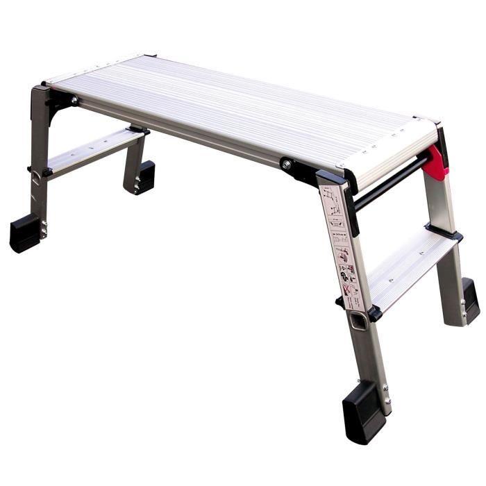 plateforme de travail en aluminium 2 chelons achat. Black Bedroom Furniture Sets. Home Design Ideas