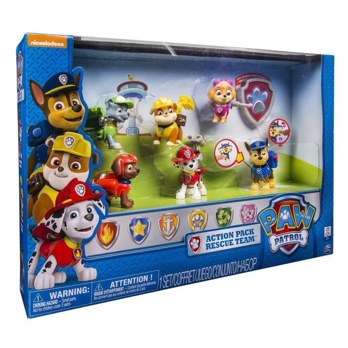 pat patrouille pack 6 figurines sac a dos transformables paw patrol achat vente figurine. Black Bedroom Furniture Sets. Home Design Ideas