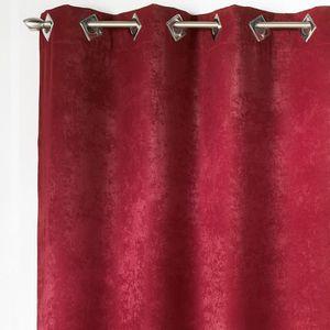 double rideaux velour achat vente double rideaux velour pas cher cdiscount. Black Bedroom Furniture Sets. Home Design Ideas