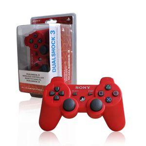 MANETTE CONSOLE Manette compatible PS3 - Rouge