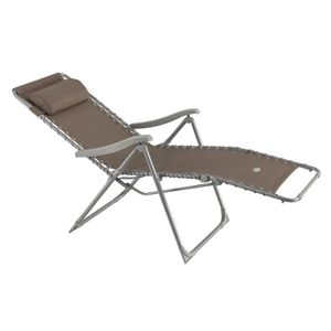 Chaise longue taupe achat vente chaise longue taupe for Transat relax basculant