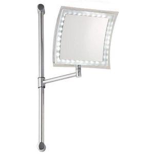 Miroir a fixer au mur achat vente miroir a fixer au mur pas cher cdiscount for Miroir loupe