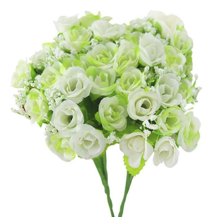 2 bouquets faux roses artificielles fleurs d coration mariage maison boutique - Fleurs artificielles paris magasin ...