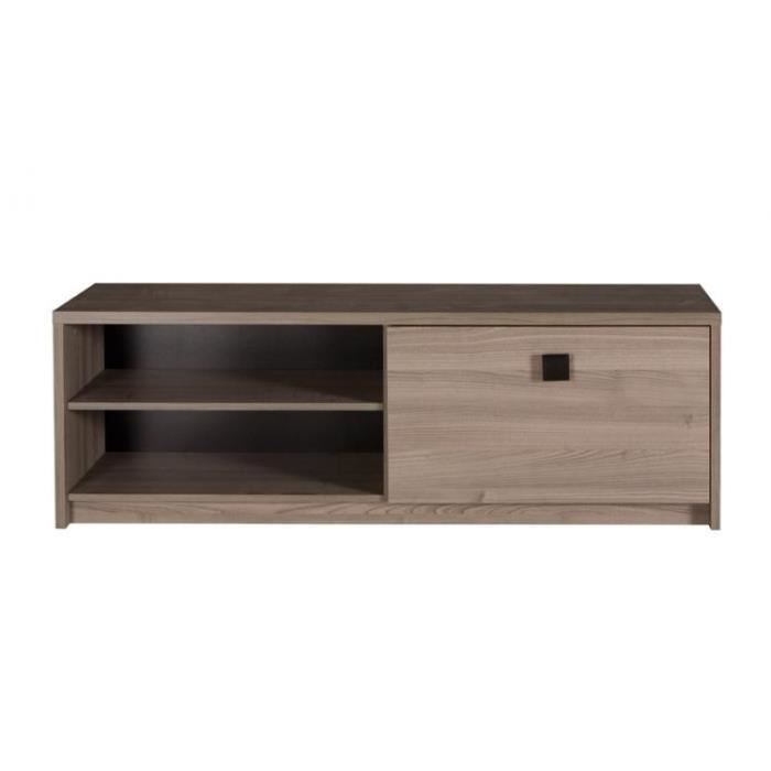 Meuble tv hifi design nany 1 porte 2 niches achat vente meuble tv meuble - Meuble tv hifi design ...