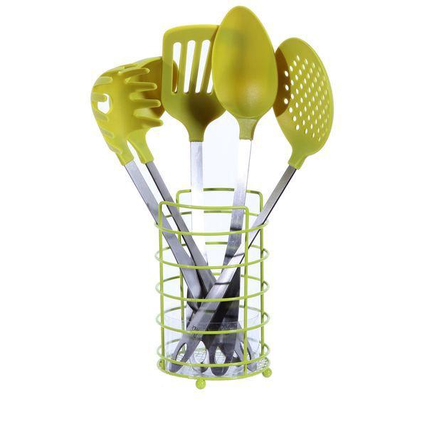 Les 5 ustensiles de cuisine vert achat vente lot for Achat ustensile de cuisine