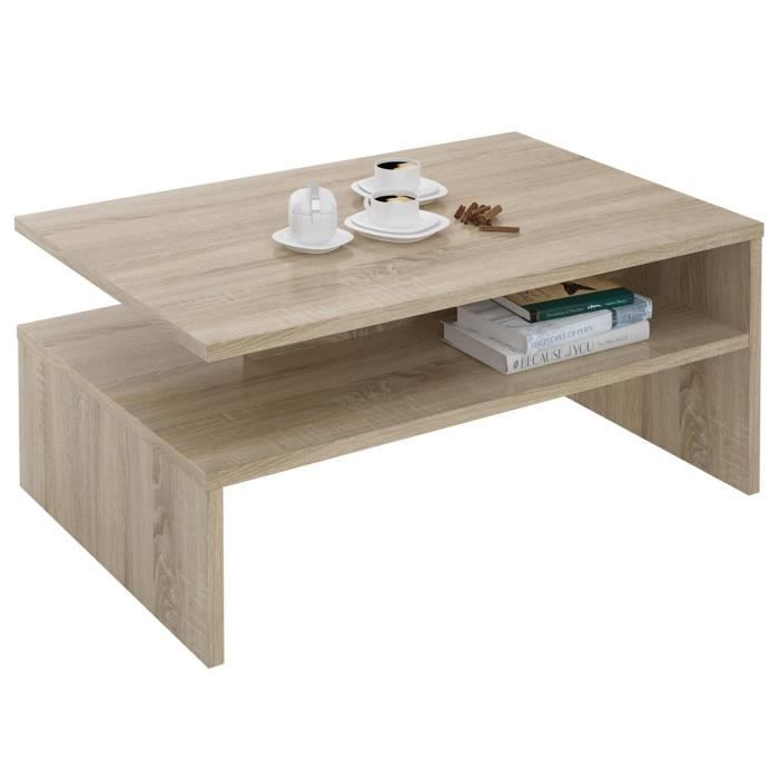 Table basse adelaide mdf m lamin ch ne sonoma achat for Table basse sonoma