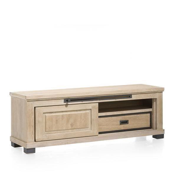 Meuble tv 160 cm en ch ne massif atelier h h achat for H h createur de meubles