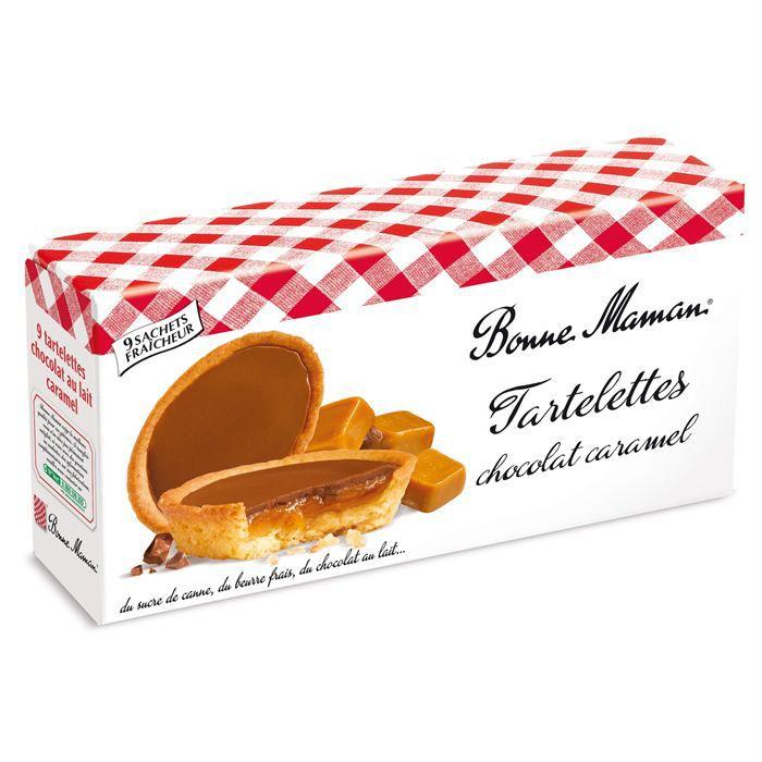 bonne maman tartelettes chocolat au lait et caramel 135g achat vente biscuits chocolat. Black Bedroom Furniture Sets. Home Design Ideas