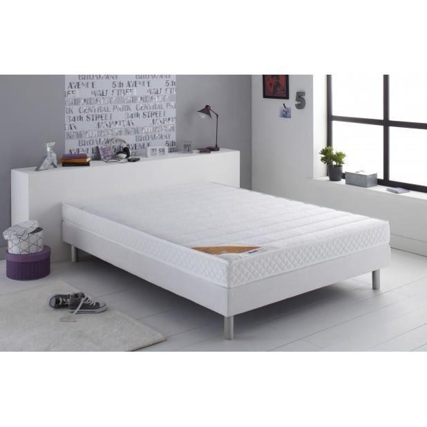 ensemble matelas ressorts biconiques goone sommier x cm. Black Bedroom Furniture Sets. Home Design Ideas