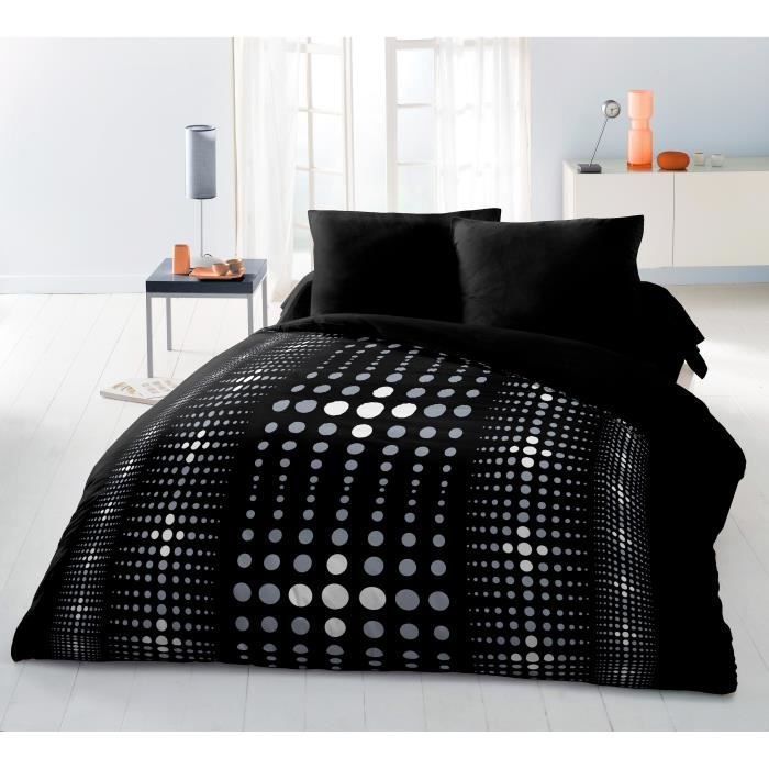 steevy parure de couette microfibre 100 polyester 1 housse de couette 220x. Black Bedroom Furniture Sets. Home Design Ideas