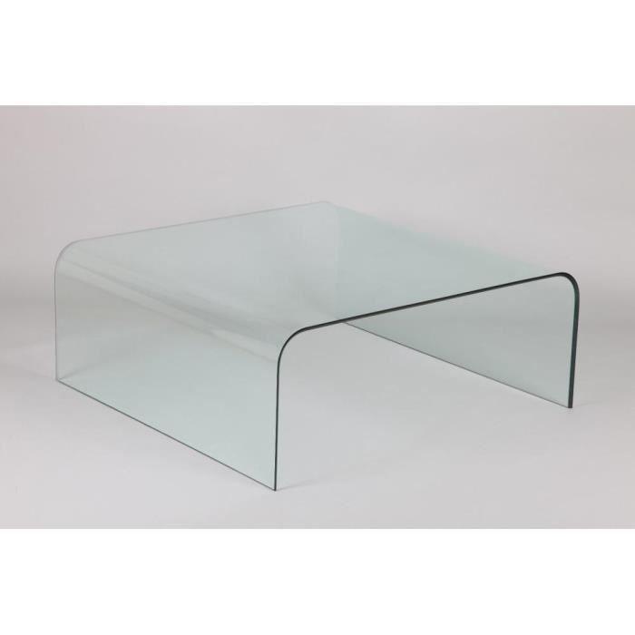 table basse carr cristale en verre achat vente table basse table basse carr cristale. Black Bedroom Furniture Sets. Home Design Ideas