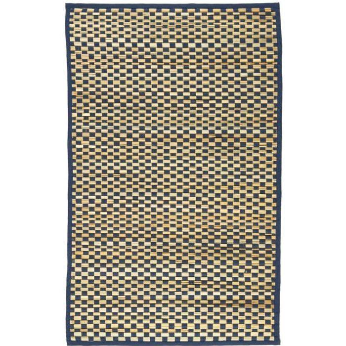 Raphia tapis 60x90 bleu achat vente tapis cdiscount for Stahlwandbecken 3 60 x 0 90