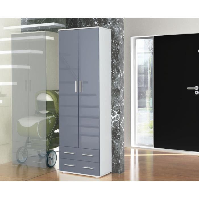 placard de vestiaire laqu poign e inox tring achat vente armoire de chambre placard de. Black Bedroom Furniture Sets. Home Design Ideas