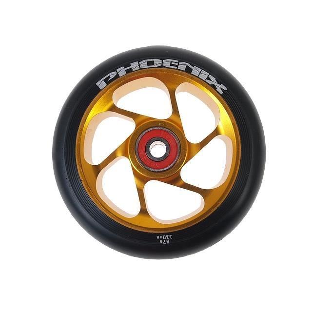 roue de trottinette roue 6 spokes or 110 mm achat vente roue de trottinette roue 6 cdiscount. Black Bedroom Furniture Sets. Home Design Ideas