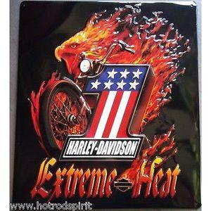 Deco plaques fer ou plaque emaillee  Plaque-publicitaire-harley-davidson-flamme-ext