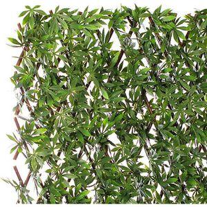 FLEUR ARTIFICIELLE Treillis fleuri bois de saule et chanvre