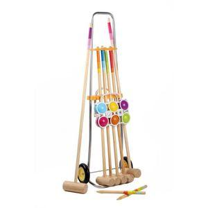 jeu de croquet en bois achat vente jeux et jouets pas chers. Black Bedroom Furniture Sets. Home Design Ideas