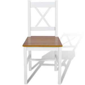 Salle a manger bois blanc achat vente salle a manger for Salle a manger en bois blanc
