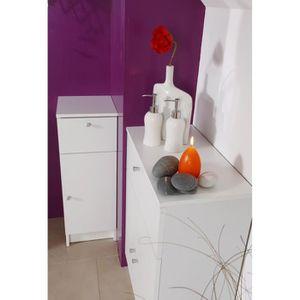 Petit meuble bas de rangement achat vente petit meuble for Petit meuble salle de bain 2 portes