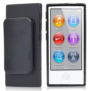 COQUE MP3-MP4 TRIXES  Coque noire en gel TPU avec clip ceinture
