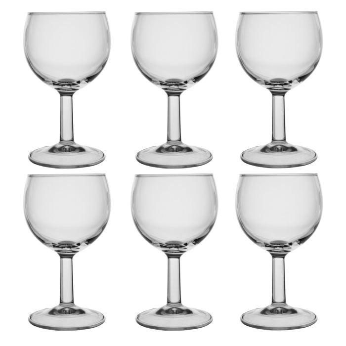 lot de 6 verres pied ballon opti 19 cl achat vente verre vin cdiscount. Black Bedroom Furniture Sets. Home Design Ideas
