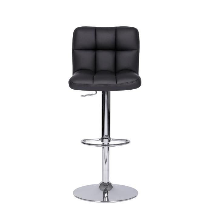 tabouret fauteuil de bar roy noir r glable simili achat. Black Bedroom Furniture Sets. Home Design Ideas