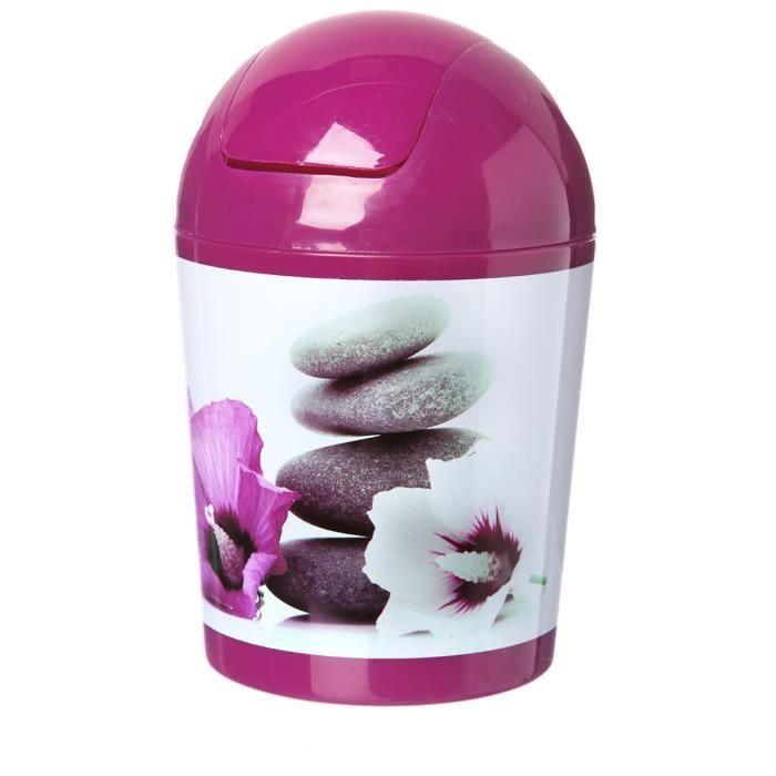 Mini poubelle de salle de bain violet achat vente poubelle corbeille mini poubelle de - Mini poubelle salle de bain ...