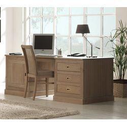 bureau informatique contemporain en ch ne 100 achat vente bureau bureau informatique. Black Bedroom Furniture Sets. Home Design Ideas