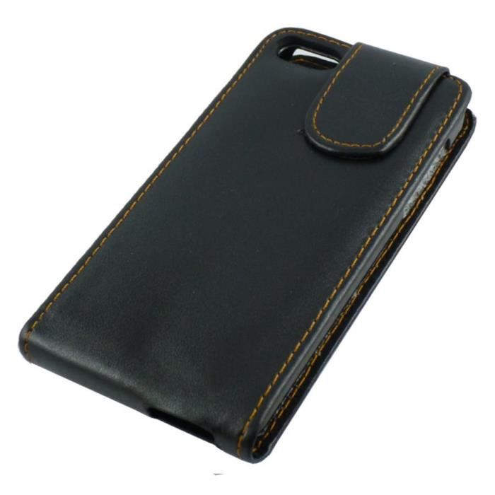 Housse etui coque pu noir apple iphone 5 achat coque for Etui housse iphone 5