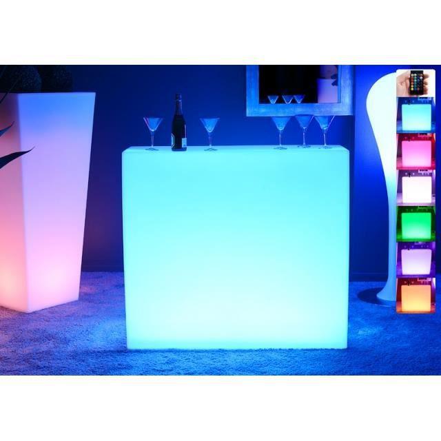 bar lumineux led multicolore krug square achat vente meuble bar bar lumineux led. Black Bedroom Furniture Sets. Home Design Ideas
