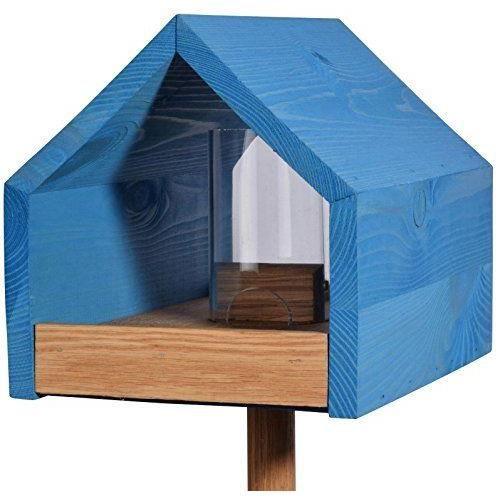 luxus vogelhaus 46603e mangeoire pour oiseaux en ch ne avec toit deux versants r servoir et. Black Bedroom Furniture Sets. Home Design Ideas