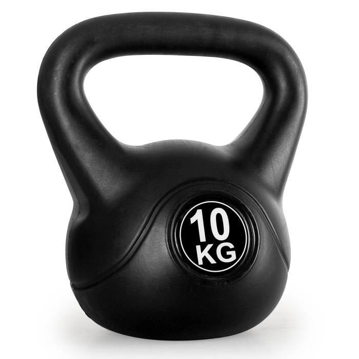 Kettlebell 10 Kg: Klarfit Kettlebell Poids D'entrainement Haltères Rondes