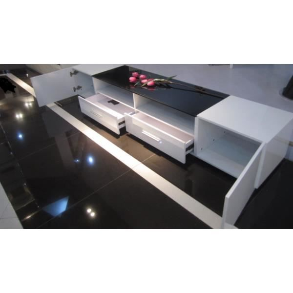 meuble tv capra 240 46 40cm achat vente meuble tv. Black Bedroom Furniture Sets. Home Design Ideas