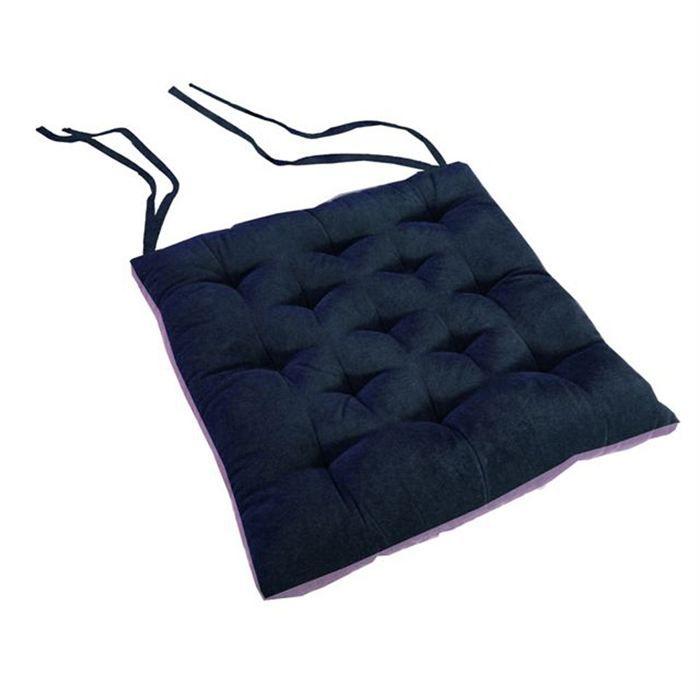 galette de chaise bleue. Black Bedroom Furniture Sets. Home Design Ideas