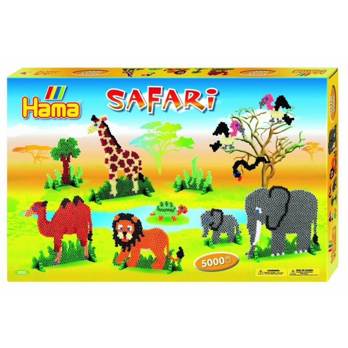 Hama Midi Boite Gm Safari 5000 Perles Achat Vente Jeu