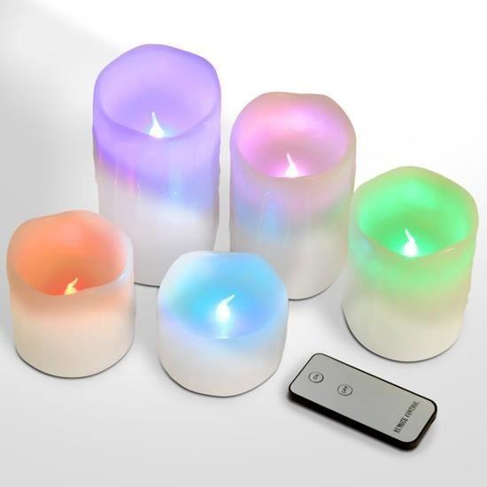 bougies piliers led couleur changeante stpkz achat vente ampoule led cdiscount. Black Bedroom Furniture Sets. Home Design Ideas