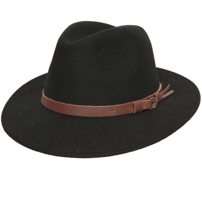 chapeau fedora feutre classique noir noir galon marron achat vente chapeau bob cdiscount. Black Bedroom Furniture Sets. Home Design Ideas