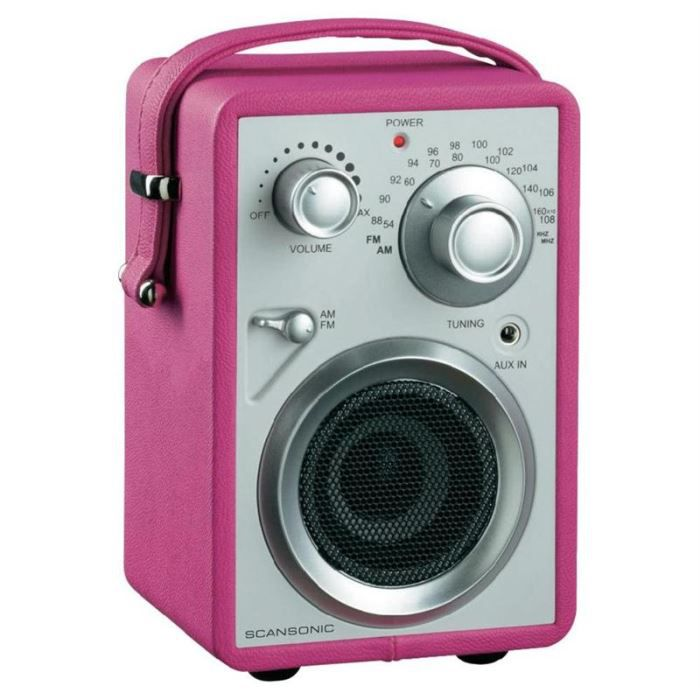 scansonic pa680 radio fm portable rose radio cd. Black Bedroom Furniture Sets. Home Design Ideas