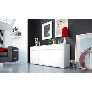 URBANA Bahut contemporain - Laqué blanc brillant - L 180 cm