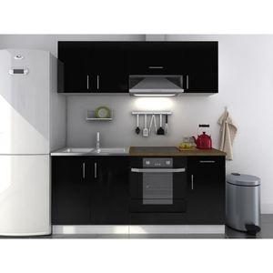 Meuble cuisine 180 cm achat vente meuble cuisine 180 for Cuisine noire laquee