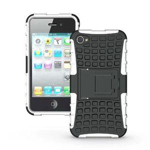 COQUE - BUMPER 2 en 1 Antichocs Protection Coque Pour iPhone 4-4s