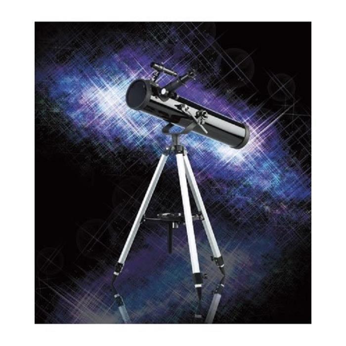T lescope r flexion 76 700 mm avec tr pied r glable for Miroir telescope achat