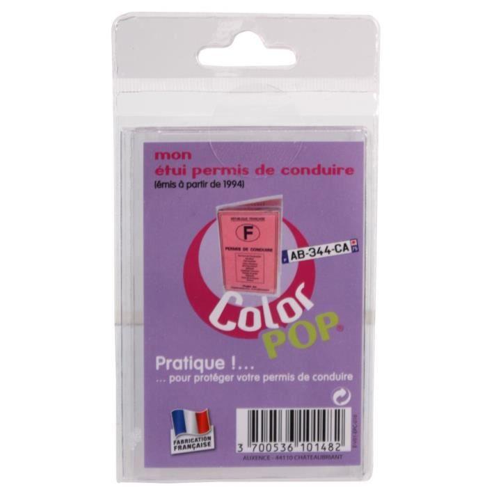 popcolor tui permis de conduite pm achat vente porte papiers 3700536101482 cdiscount. Black Bedroom Furniture Sets. Home Design Ideas