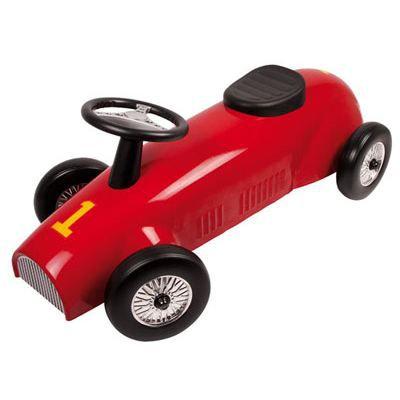 porteur voiture rouge en m tal achat vente porteur pousseur cdiscount. Black Bedroom Furniture Sets. Home Design Ideas