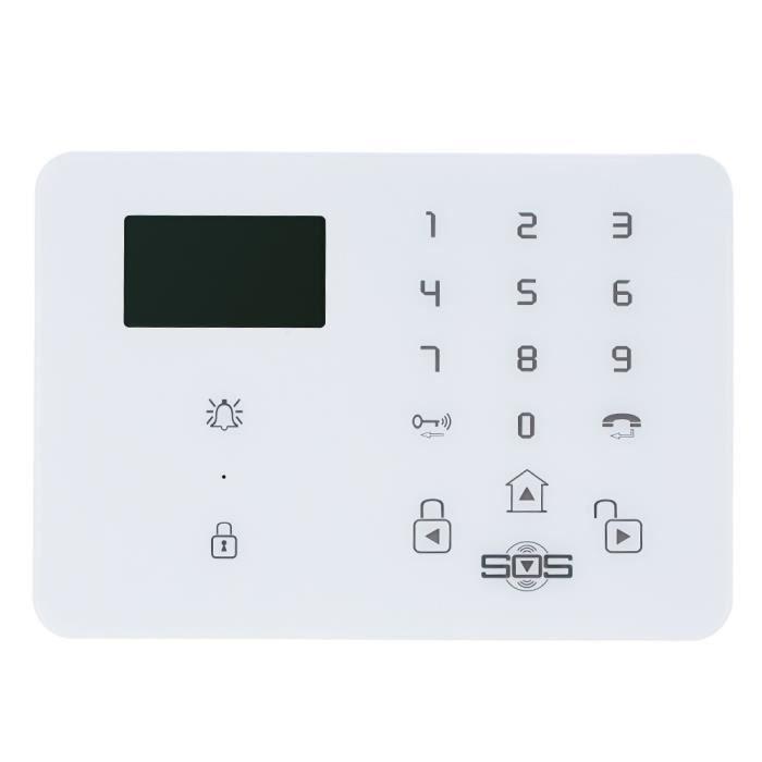 Syst me d 39 alarme sans fil gsm sms accueil s curit avec for Aide gouvernementale pour achat de maison