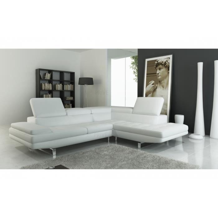 canap d 39 angle en cuir italien 6 places birkin achat vente canap sofa divan cdiscount. Black Bedroom Furniture Sets. Home Design Ideas