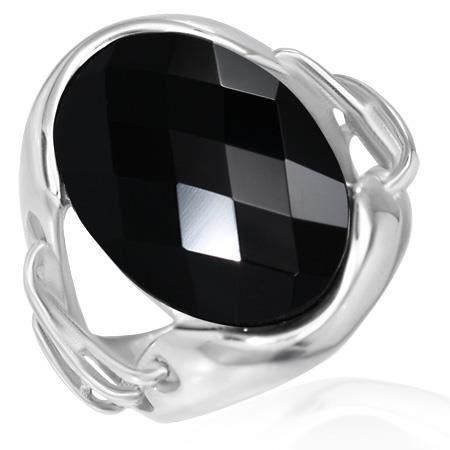 bague onyx noir femme et acier inoxydable 316l achat vente bracelet gourmette bague onyx. Black Bedroom Furniture Sets. Home Design Ideas