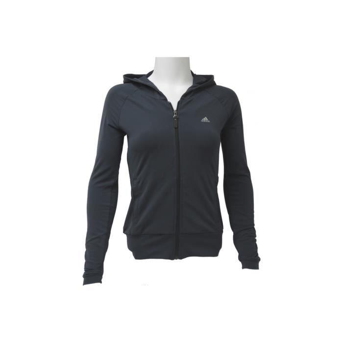 Femme Adidas Pas Coton Sweat Gris Capuche Cher Survetement Et Yg6ybf7v